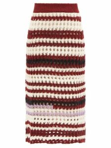Araks - Ulu Paperbag Waist Cotton Skirt - Womens - White