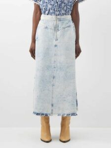 Moncler - Gathered Sleeve Cotton Blend Jersey Sweatshirt - Womens - Light Grey