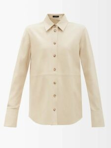 F.r.s - For Restless Sleepers - Pussy-bow Crepe Blouse - Womens - Red
