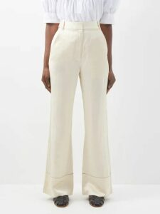 Golden Goose - Felicia High Rise Straight Leg Trousers - Womens - Khaki