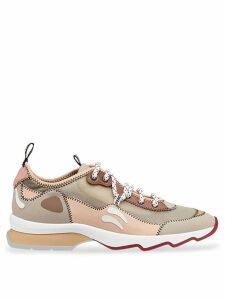 Fendi multicolour technical mesh sneakers - Brown