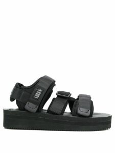 Suicoke touch-strap platform sandals - Black