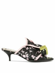 Nº21 floral open-toe sandals - Black