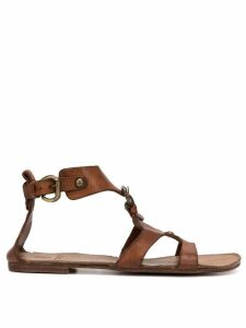 Silvano Sassetti gladiator sandals - Brown