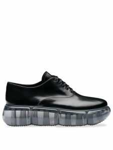 Prada leather oxford shoes with rubber sole - Black