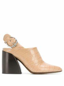 Chloé block heel pumps - Brown