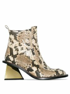 Marques'Almeida 65 snake-effect ankle boots - Snake Print