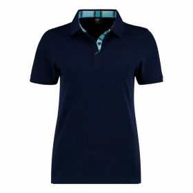 KOY Clothing - Navy Blue Ladies 'Luo' Polo Top