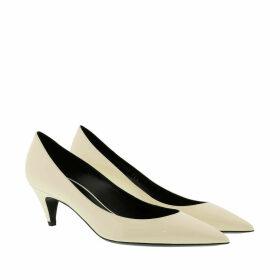 Saint Laurent Pumps - Charlotte 55 Pointy Pumps Leather Porcelain - white - Pumps for ladies