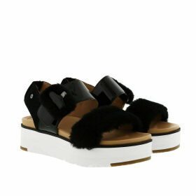 UGG Sandals - W Fluff Chella Sandals Black - black - Sandals for ladies