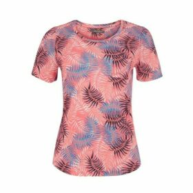 Hot Pink Palm Print Top