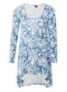 Womens *Izabel London Blue Paisley Print Top, Blue