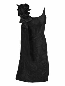 Miu Miu Miu Miu Taffeta Bow And Rose Appliqué Dress