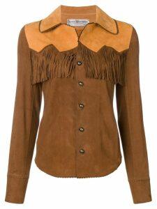 Jessie Western leather western shirt - Brown