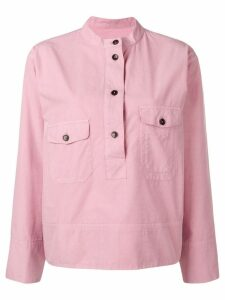 YMC buttoned placket shirt - Pink
