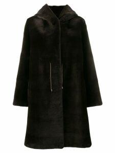 Liska Dawsini fur coat - Brown