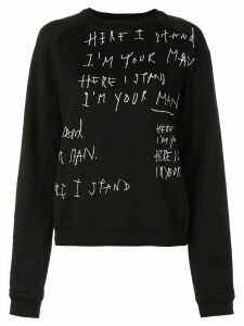 Haider Ackermann I'm Your Man sweatshirt - Black