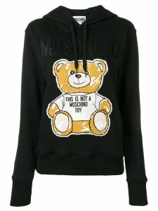 Moschino teddy bear hoodie - Black