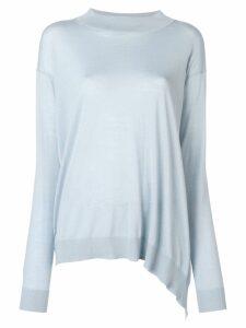 Stella McCartney asymmetric longline sweater - Blue