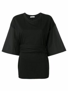 Neul wrap tie blouse - Black