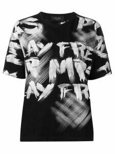 Mr & Mrs Italy graffiti print T-shirt - Black