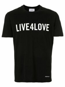 Ports V slogan T-shirt - Black