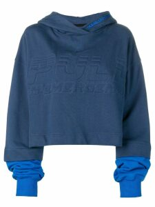 House of Holland oversized logo hoodie - Blue