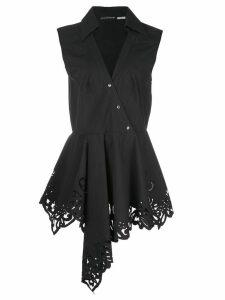 Josie Natori V-neck poplin blouse - Black