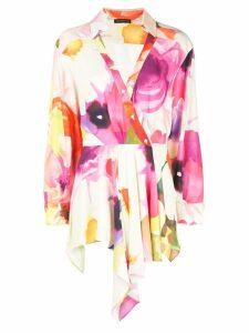 Josie Natori eden floral drape tunic - Multicolour
