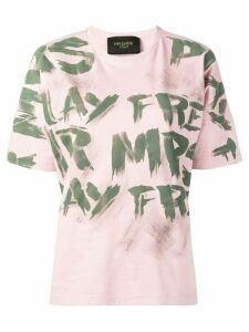 Mr & Mrs Italy graffiti print T-shirt - PINK