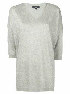 Fay metallic V-neck T-shirt - Green