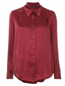 Nobody Denim Gabrielle Silk Shirt - Red