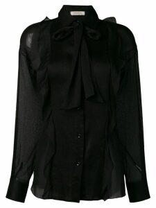 Nina Ricci sheer fitted blouse - Black