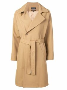 A.P.C. belted double-breasted coat - Neutrals