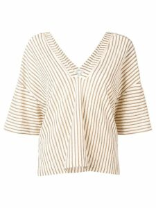 Forte Forte striped blouse - NEUTRALS