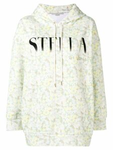 Stella McCartney floral print logo hoodie - Yellow