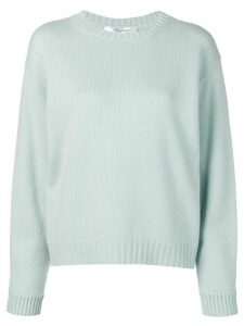 Max Mara ribbed crew neck jumper - Blue