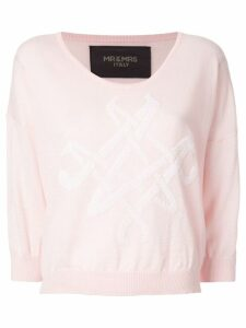 Mr & Mrs Italy logo knit sweater - Pink