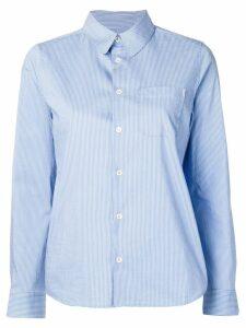 A.P.C. striped slim-fit shirt - Blue