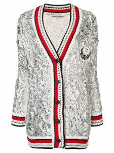 Ermanno Scervino striped trim cardigan - Silver