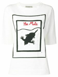 Holland & Holland The Mole print T-shirt - White