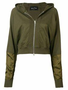 Andrea Ya'aqov classic zipped hoodie - Green