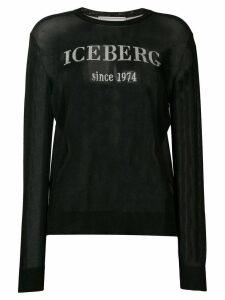 Iceberg glitter logo jumper - Black