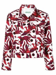 Kenzo bird-print denim jacket - White