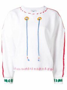 Mira Mikati Trompe L'ail Scribble sweatshirt - White