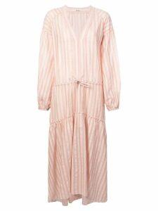lemlem Nefasi striped tiered dress - PINK