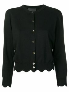 Marc Jacobs scalloped edge cardigan - Black