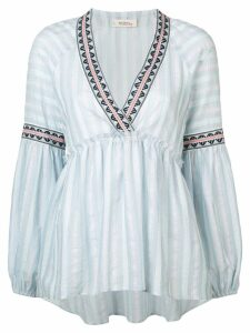 Lemlem Nefasi striped peplum blouse - Blue