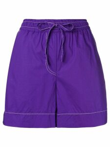 P.A.R.O.S.H. elasticated waist shorts - Purple