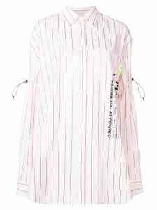 Marcelo Burlon County Of Milan stripe script shirt - White